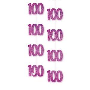 100-års födelsedag rosa hängande dekorationer - 4