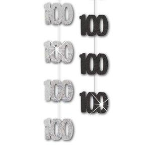 100-års födelsedag svarta hängande dekorationer - 1