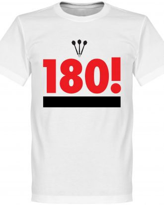 180 Darts T-shirt Darts Legend 180 Darts Vit XS