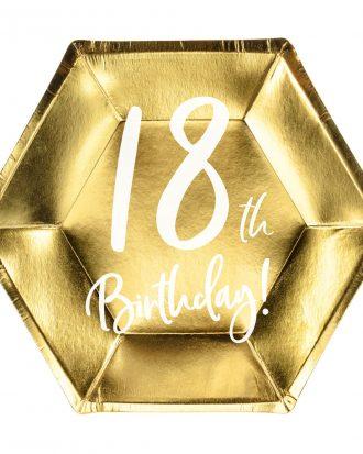 18th Birthday Assietter Guld