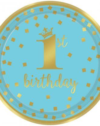 1st Birthday Assietter Blå