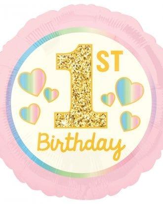 1st Birthday Folieballong