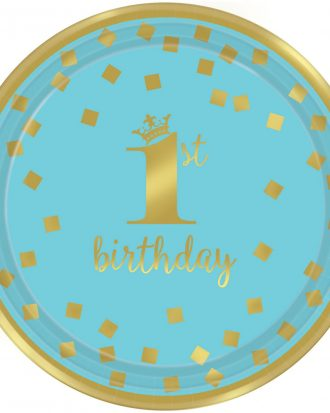 1st Birthday Tallrikar Blå