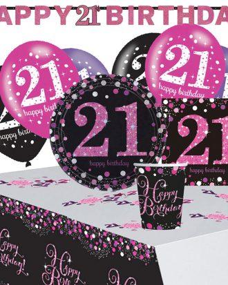 21-års Kalas Rosa Sparkling Celebration Kit 8 Pers