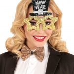 Guldiga Happy New Year Glasögon