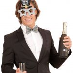 Silvriga Happy New Year Glasögon