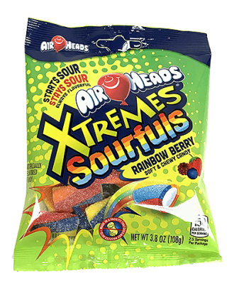 Airheads Xtremes Sourfuls Rainbow Berry 108g