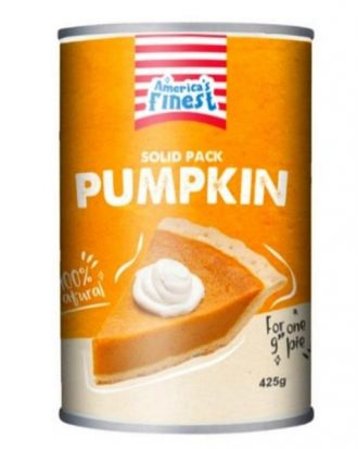 Americas Finest Natural Solid Pack Pumpkin 425g