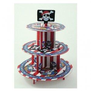 3 vånings muffins stativ med pirater