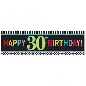 30-års födelsdagsbanderoll - 1