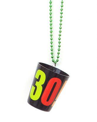 30-års Shotglas Plast