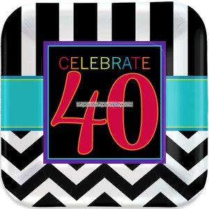 40-års födelsedag papperstallrikar