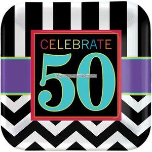 50-års födelsedag papperstallrikar