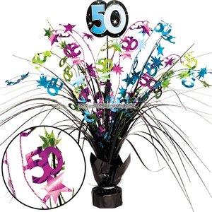 50-års födelsedag Spray bordsdekoration