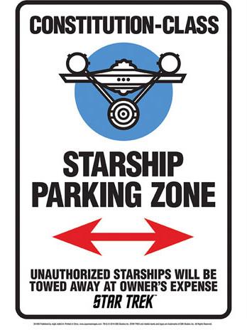 Star Trek - Starship Parking Tin Sign