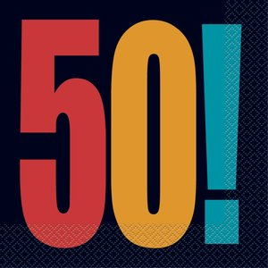 50-års servetter 16 st