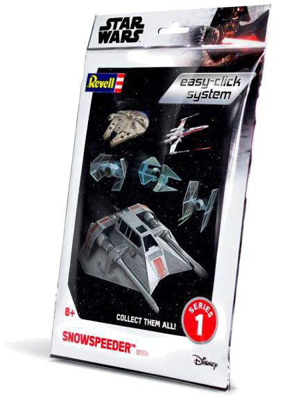 Star Wars - Level 2 Easy-Click Snap Model Kit Snowspeeder