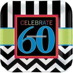 60-års födelsedag papperstallrikar