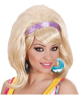 60-tals Blond Peruk