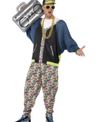 80-tals Hiphop Maskeraddräkt