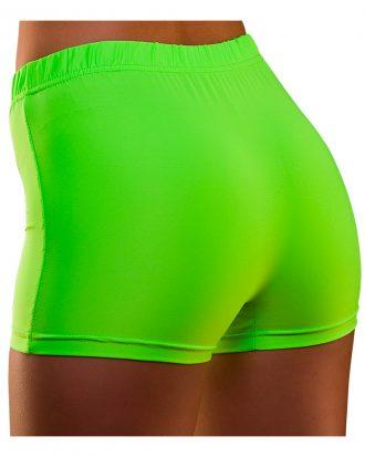 80-tals Hotpants Neongröna - Medium/Large