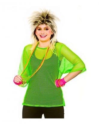 80-tals Nättopp Neongrön - One size