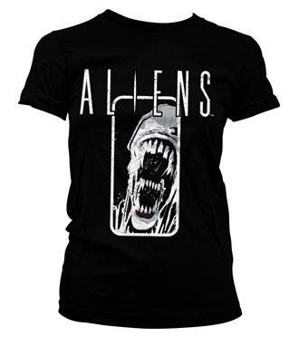 Aliens Distressed Girly Tee