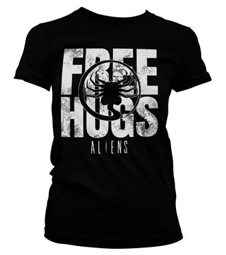 Aliens - Free Hugs Girly Tee