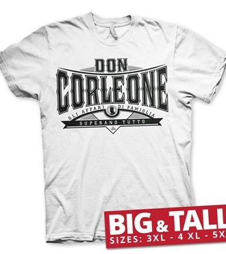 Don Corleone - Superano Tutto Big & Tall T-Shirt
