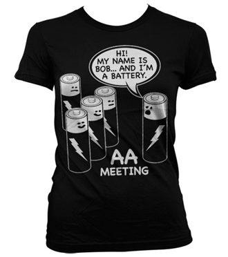 AA Battery Meeting Girly T-Shirt