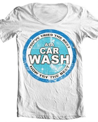 A1A Car Wash Wide Neck Tee