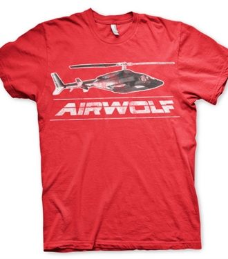 Airwolf Chopper Distressed T-Shirt