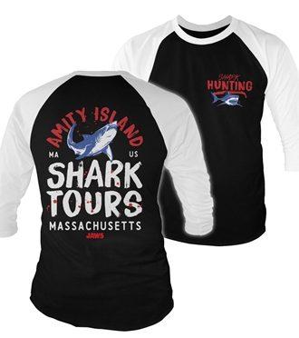 Amity Island Shark Tours Baseball 3/4 Sleeve Tee