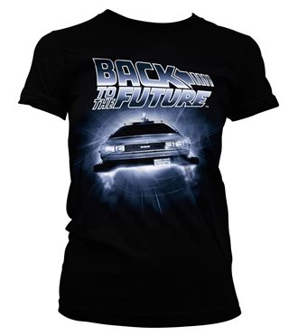 Back To The Future - Flying Delorean Girly Tee