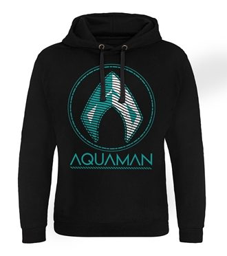 Aquaman - Distressed Shield Epic Hoodie