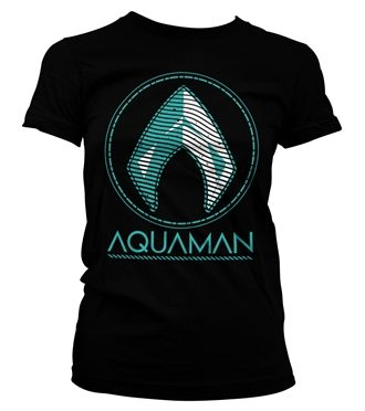 Aquaman - Distressed Shield Girly Tee