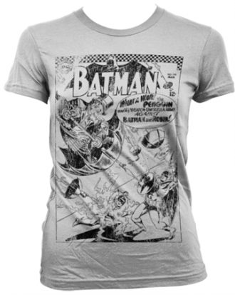 Batman - Umbrella Army Distressed Girly T-Shirt