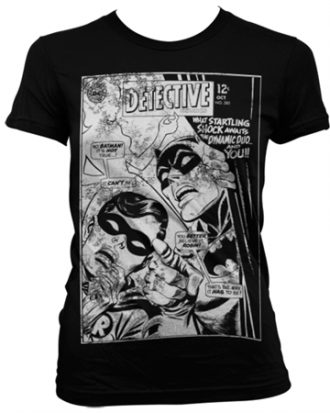 Batman - Dynamic Duo Distressed Girly T-Shirt