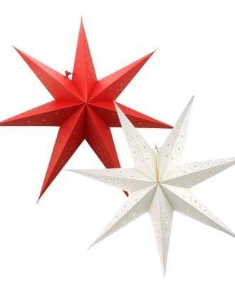 Adventsstjärna för Glödlampa - Vit