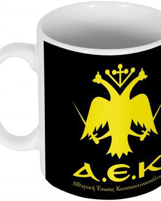 AEK Athens Mugg Emblem Svart-Gul