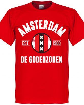 Ajax T-shirt Amsterdam Established Röd XS