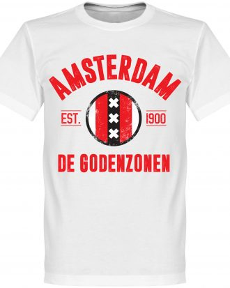 Ajax T-shirt Amsterdam Established Vit XS