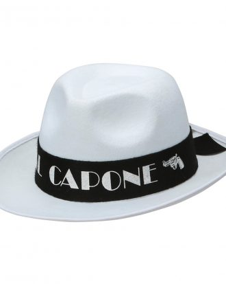 Al Capone Vit Gangsterhatt - One size