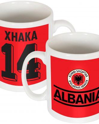 Albanien Mugg Xhaka Team Röd