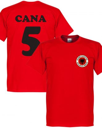 Albanien T-shirt Badge Cana 5 Röd XS