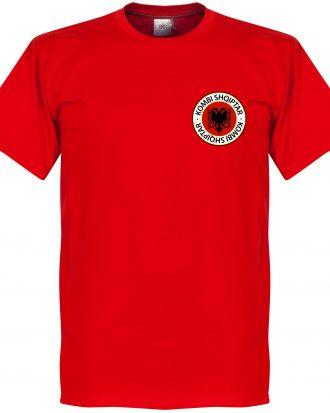 Albanien T-shirt Badge Röd XS