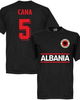 Albanien T-shirt Cana 5 Team Svart XS
