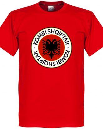 Albanien T-shirt Crest Röd XS