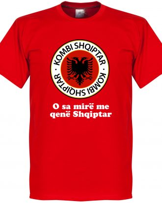 Albanien T-shirt Crest Slogan Röd XS