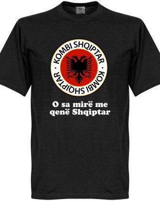 Albanien T-shirt Crest Slogan Svart XS